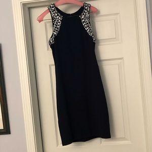 Sequin Hearts Navy Dress Size 13 Juniors(Size 4-6)